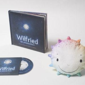 Wilfried, der einsame Stern - Das Kinderbuch mit CD und Dekorationskissen