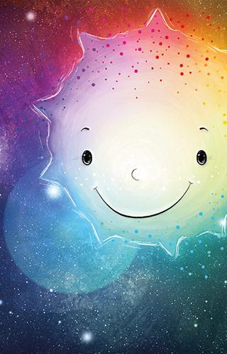 Wilfried der einsame Stern - glücklich